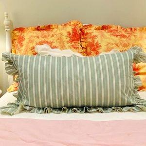 """Ralph Lauren Pillow Sham-""""Caufield Stripe"""" Pattern"""